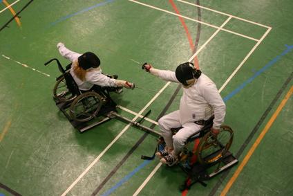 Escrime en fauteuil roulant