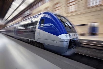 TGV en mouvement