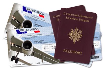 Billets d'avion et passeport
