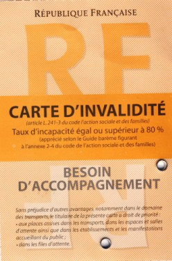 carte d invalidité orange Carte dinvalidite   Handicap Info