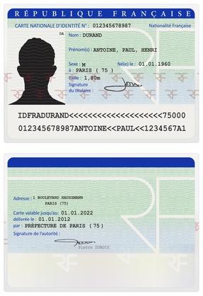 renouvellement carte identité majeur Carte nationale d'identité   Carte d'identité
